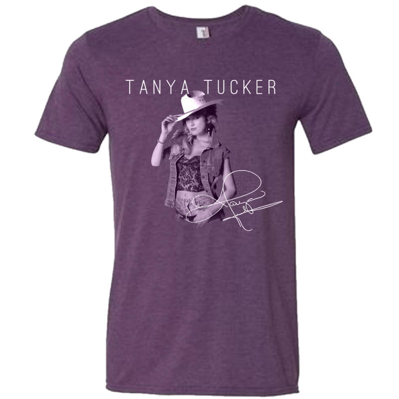 Tanya Tucker Heather Purple Photo Tee