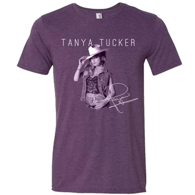 Tanya Tucker Heather Purple Photo Tee
